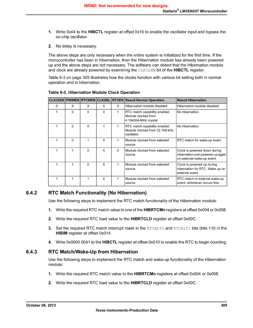 LM3S9G97 ,Texas Instruments厂商,Stellaris LM3S Microcontroller 108-NFBGA -40 to 85, LM3S9G97 datasheet预览  第305页