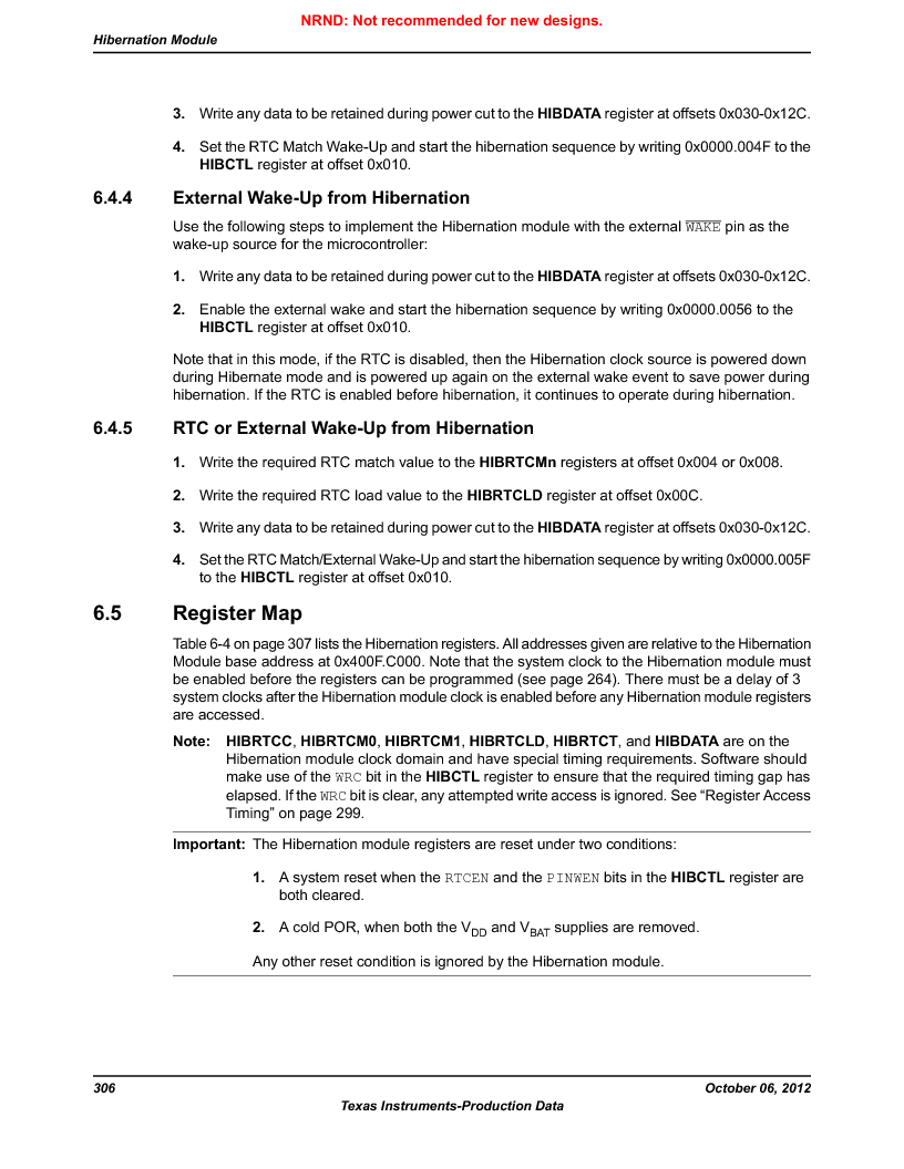 LM3S9G97 ,Texas Instruments厂商,Stellaris LM3S Microcontroller 108-NFBGA -40 to 85, LM3S9G97 datasheet预览  第306页
