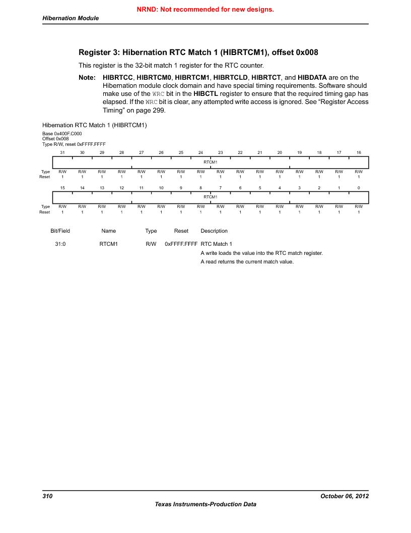 LM3S9G97 ,Texas Instruments厂商,Stellaris LM3S Microcontroller 108-NFBGA -40 to 85, LM3S9G97 datasheet预览  第310页