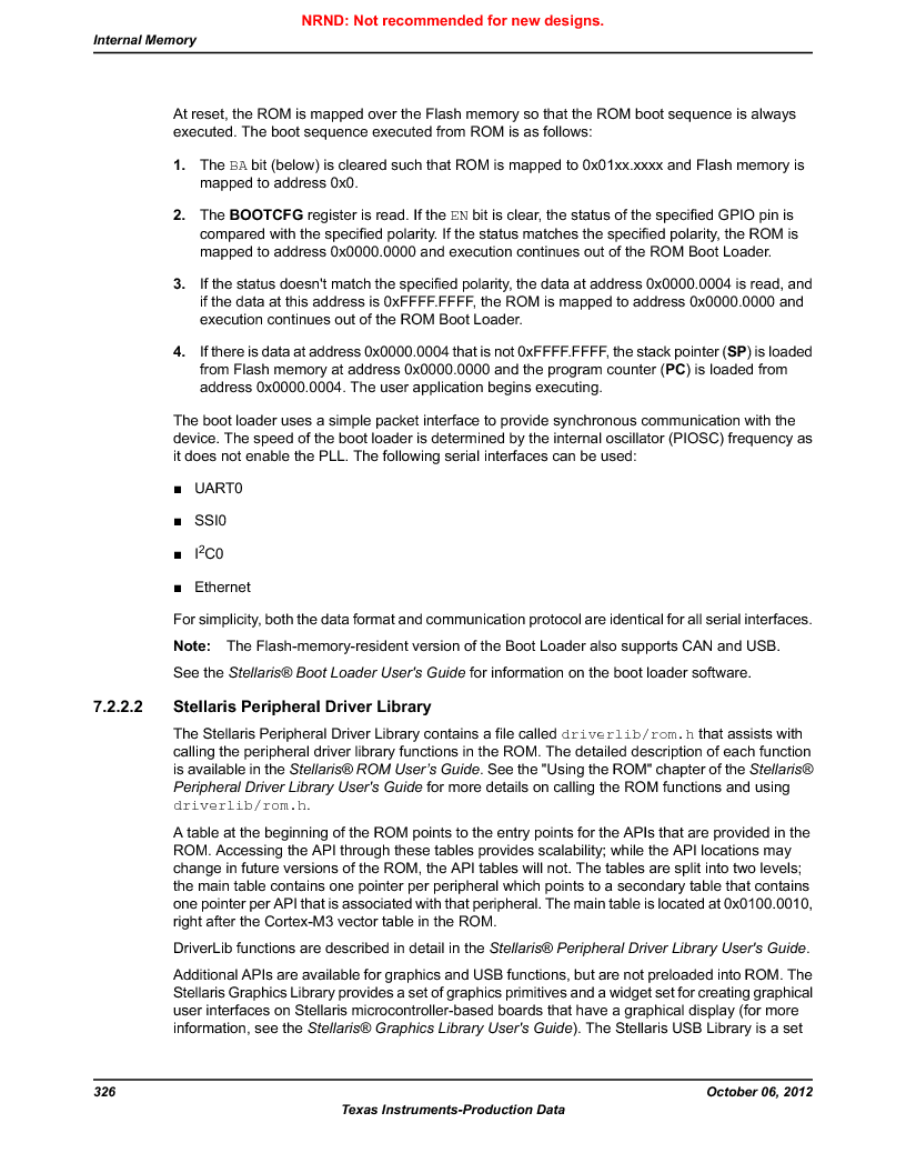 LM3S9G97 ,Texas Instruments厂商,Stellaris LM3S Microcontroller 108-NFBGA -40 to 85, LM3S9G97 datasheet预览  第326页