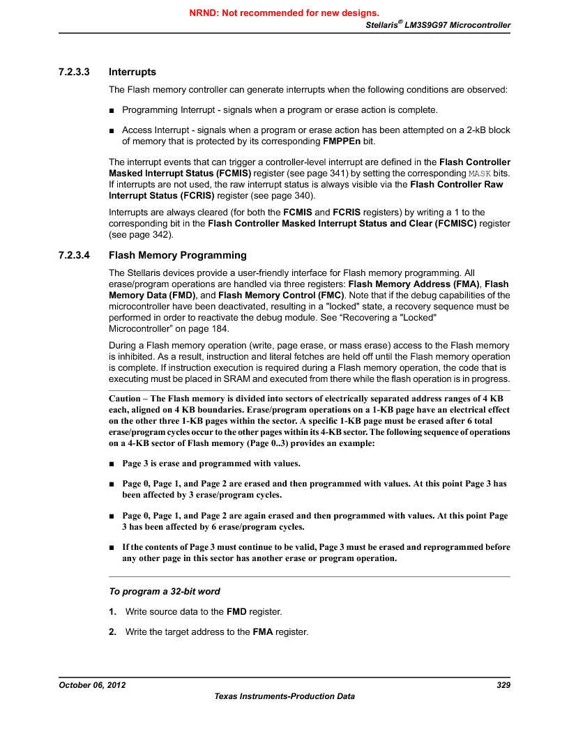 LM3S9G97 ,Texas Instruments厂商,Stellaris LM3S Microcontroller 108-NFBGA -40 to 85, LM3S9G97 datasheet预览  第329页
