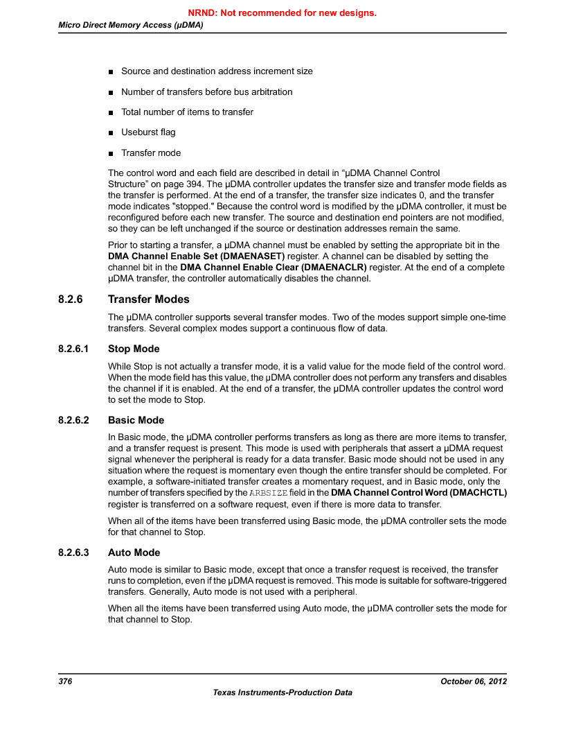 LM3S9G97 ,Texas Instruments厂商,Stellaris LM3S Microcontroller 108-NFBGA -40 to 85, LM3S9G97 datasheet预览  第376页