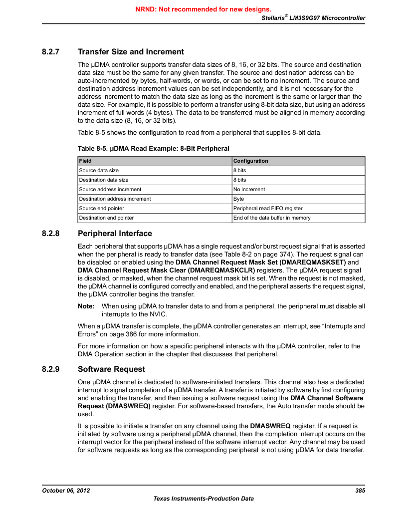 LM3S9G97 ,Texas Instruments厂商,Stellaris LM3S Microcontroller 108-NFBGA -40 to 85, LM3S9G97 datasheet预览  第385页