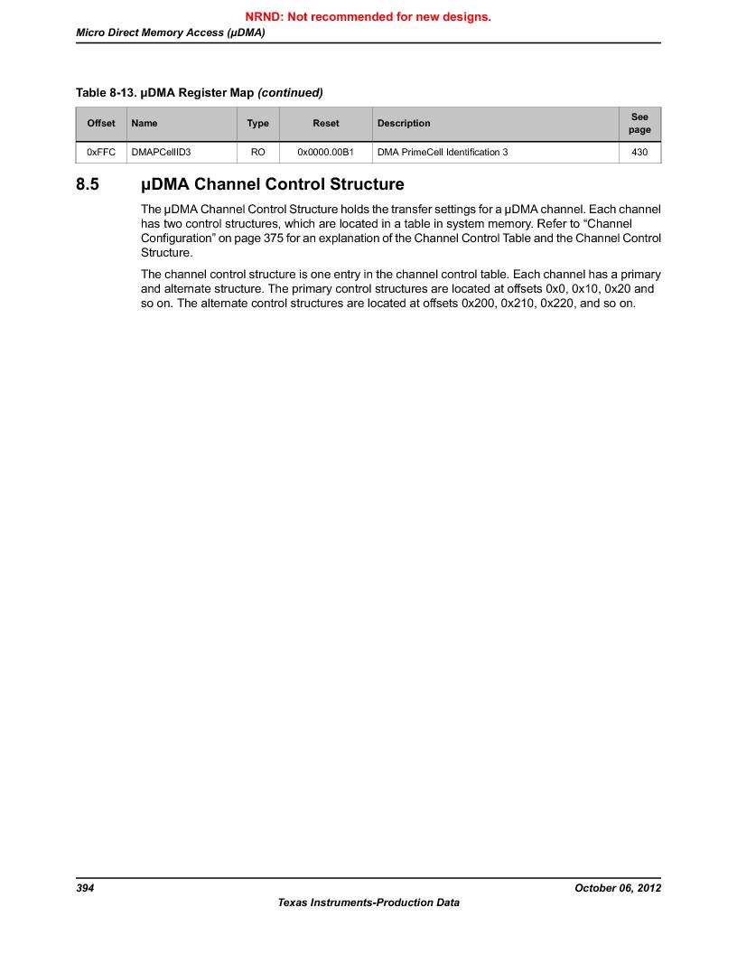 LM3S9G97 ,Texas Instruments厂商,Stellaris LM3S Microcontroller 108-NFBGA -40 to 85, LM3S9G97 datasheet预览  第394页