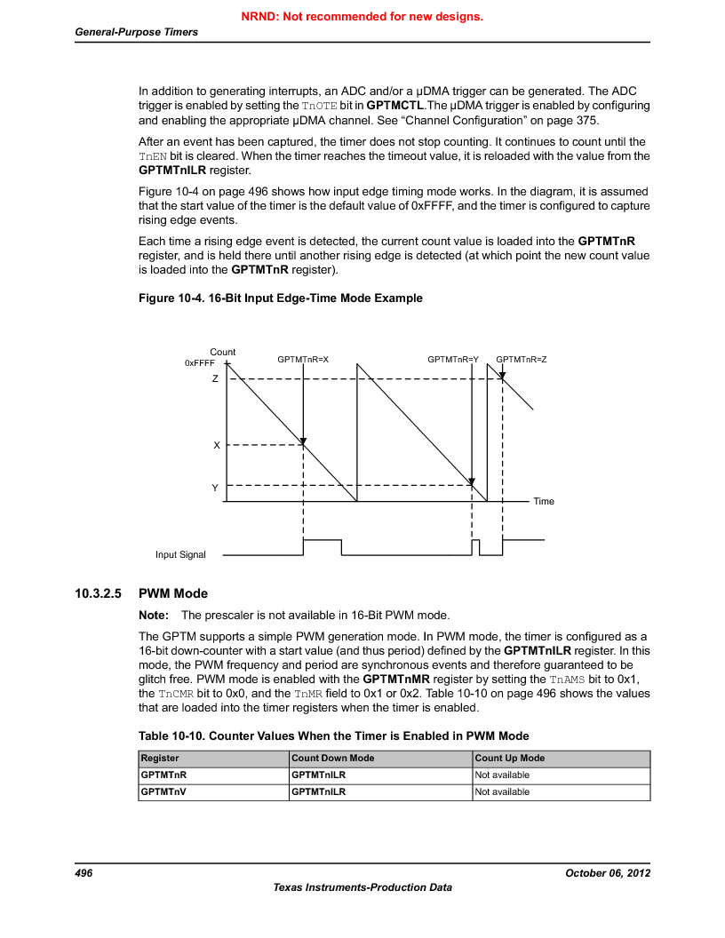 LM3S9G97 ,Texas Instruments厂商,Stellaris LM3S Microcontroller 108-NFBGA -40 to 85, LM3S9G97 datasheet预览  第496页