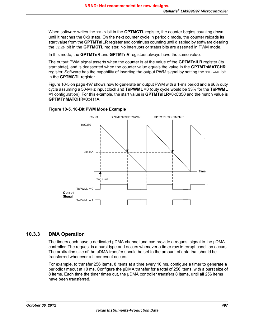 LM3S9G97 ,Texas Instruments厂商,Stellaris LM3S Microcontroller 108-NFBGA -40 to 85, LM3S9G97 datasheet预览  第497页