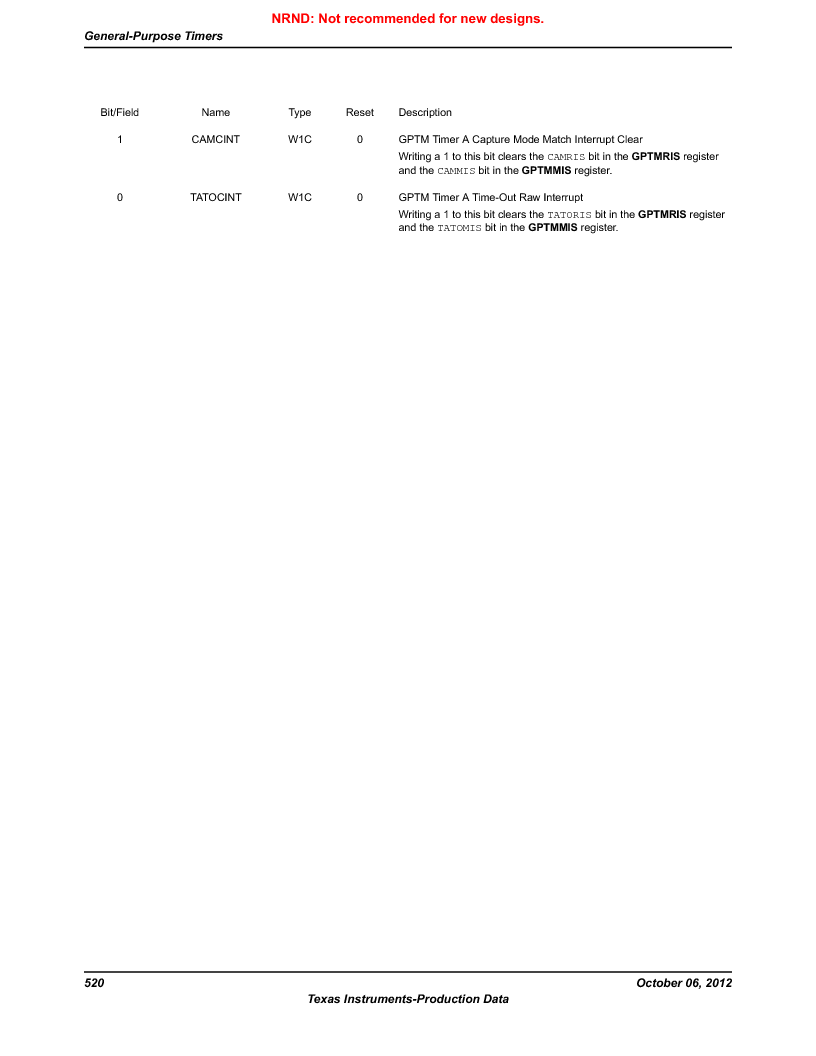 LM3S9G97 ,Texas Instruments厂商,Stellaris LM3S Microcontroller 108-NFBGA -40 to 85, LM3S9G97 datasheet预览  第520页