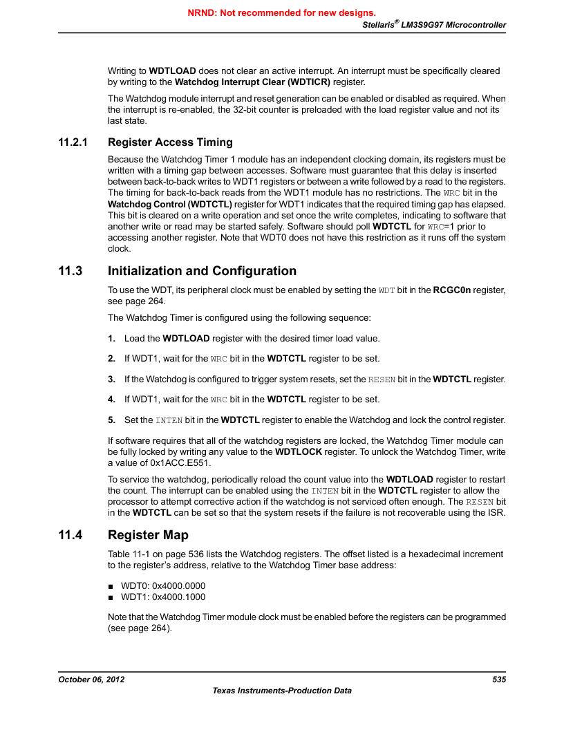 LM3S9G97 ,Texas Instruments厂商,Stellaris LM3S Microcontroller 108-NFBGA -40 to 85, LM3S9G97 datasheet预览  第535页