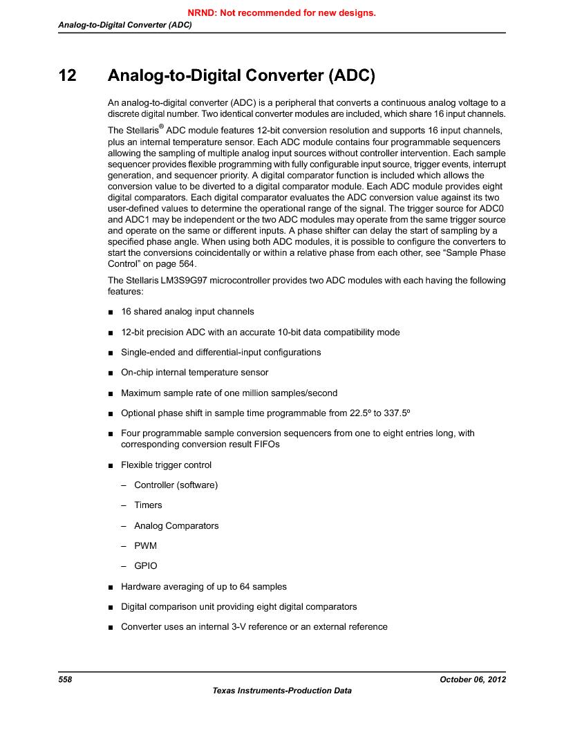 LM3S9G97 ,Texas Instruments厂商,Stellaris LM3S Microcontroller 108-NFBGA -40 to 85, LM3S9G97 datasheet预览  第558页