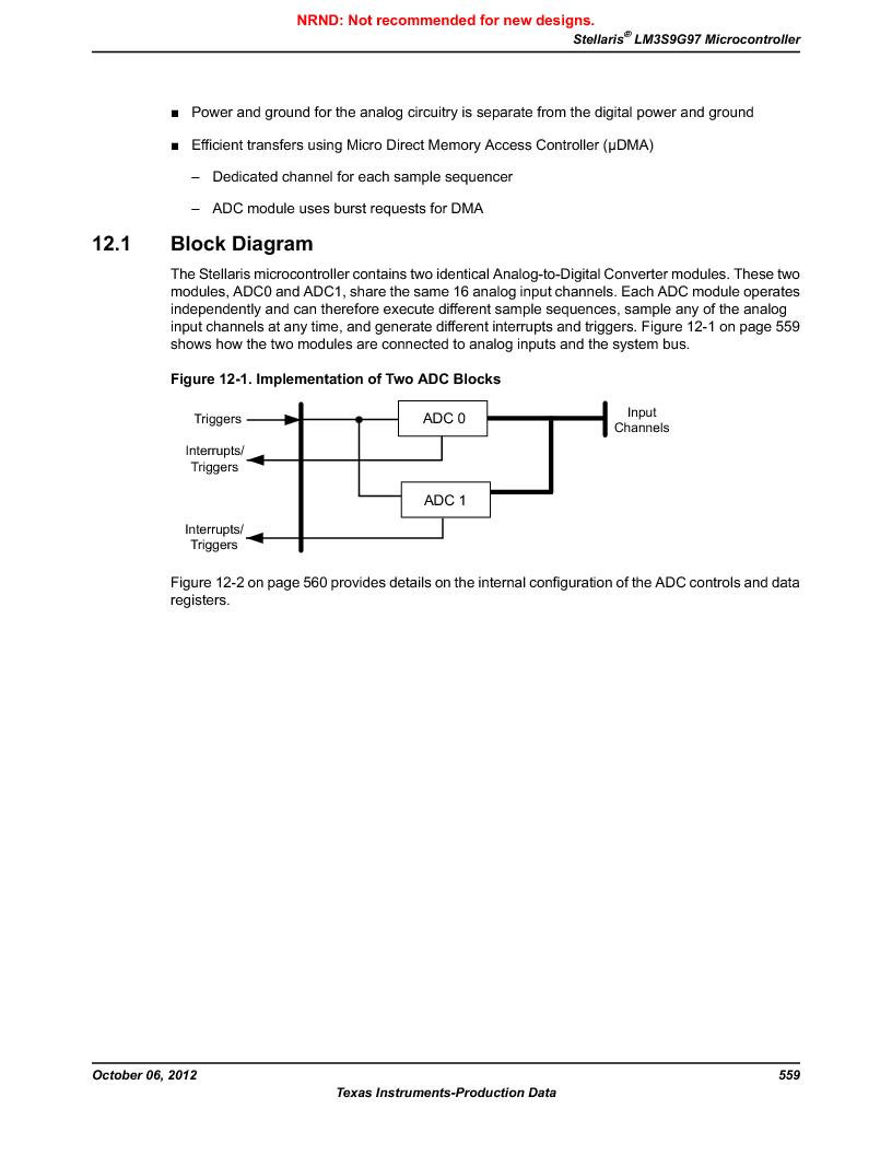 LM3S9G97 ,Texas Instruments厂商,Stellaris LM3S Microcontroller 108-NFBGA -40 to 85, LM3S9G97 datasheet预览  第559页