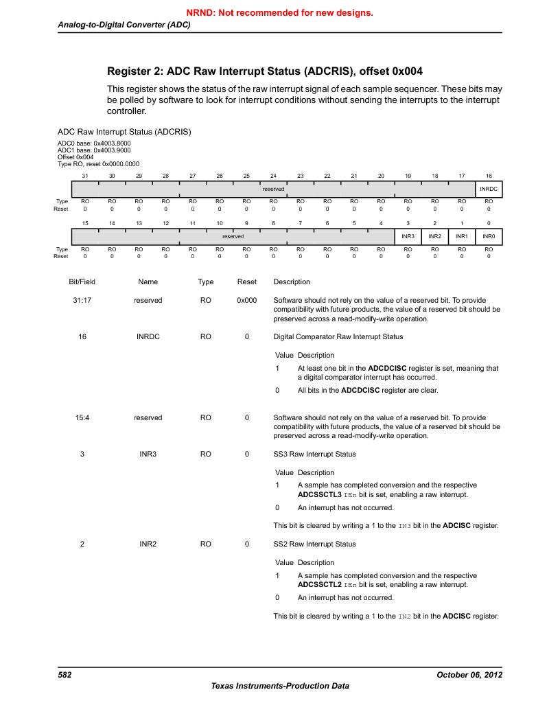 LM3S9G97 ,Texas Instruments厂商,Stellaris LM3S Microcontroller 108-NFBGA -40 to 85, LM3S9G97 datasheet预览  第582页