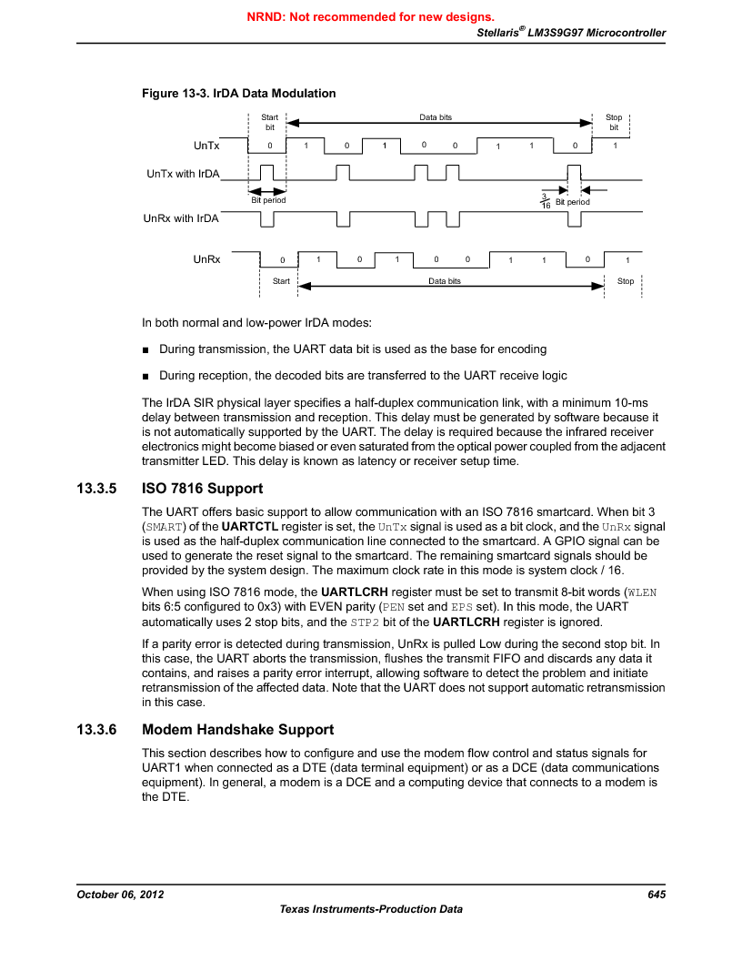 LM3S9G97 ,Texas Instruments厂商,Stellaris LM3S Microcontroller 108-NFBGA -40 to 85, LM3S9G97 datasheet预览  第645页