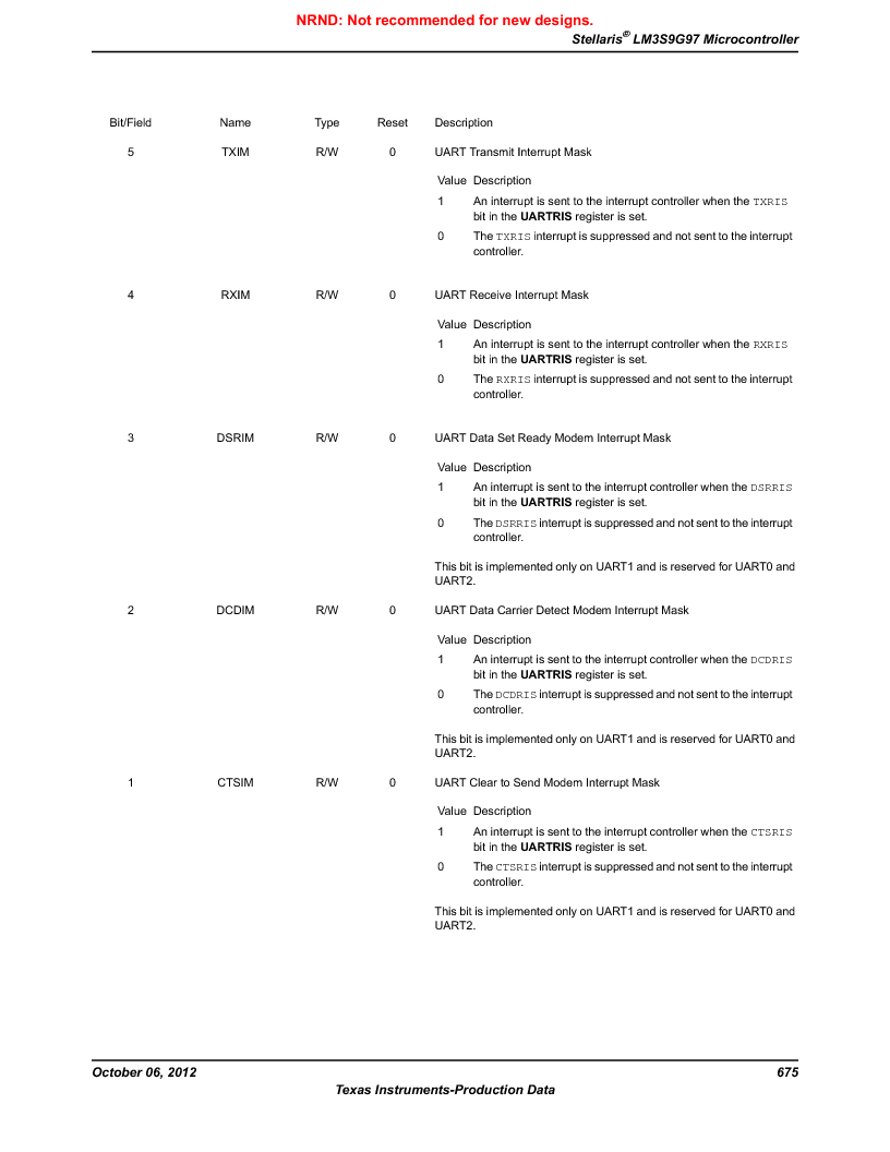LM3S9G97 ,Texas Instruments厂商,Stellaris LM3S Microcontroller 108-NFBGA -40 to 85, LM3S9G97 datasheet预览  第675页