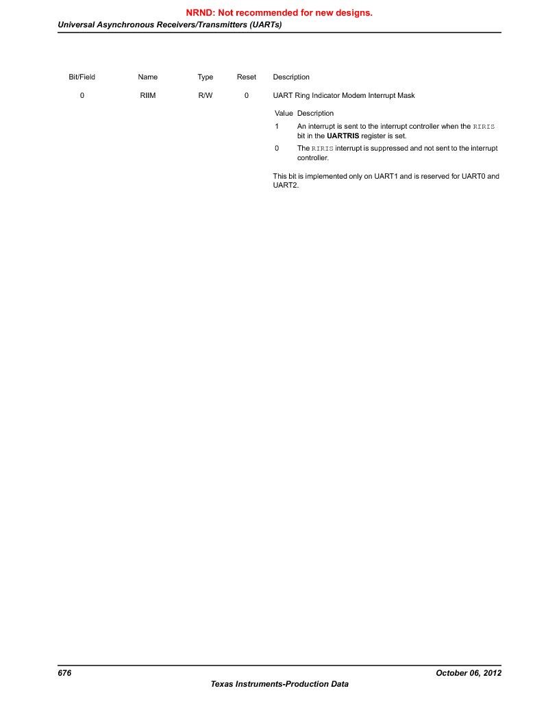 LM3S9G97 ,Texas Instruments厂商,Stellaris LM3S Microcontroller 108-NFBGA -40 to 85, LM3S9G97 datasheet预览  第676页