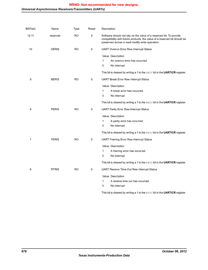 LM3S9G97 ,Texas Instruments厂商,Stellaris LM3S Microcontroller 108-NFBGA -40 to 85, LM3S9G97 datasheet预览  第678页