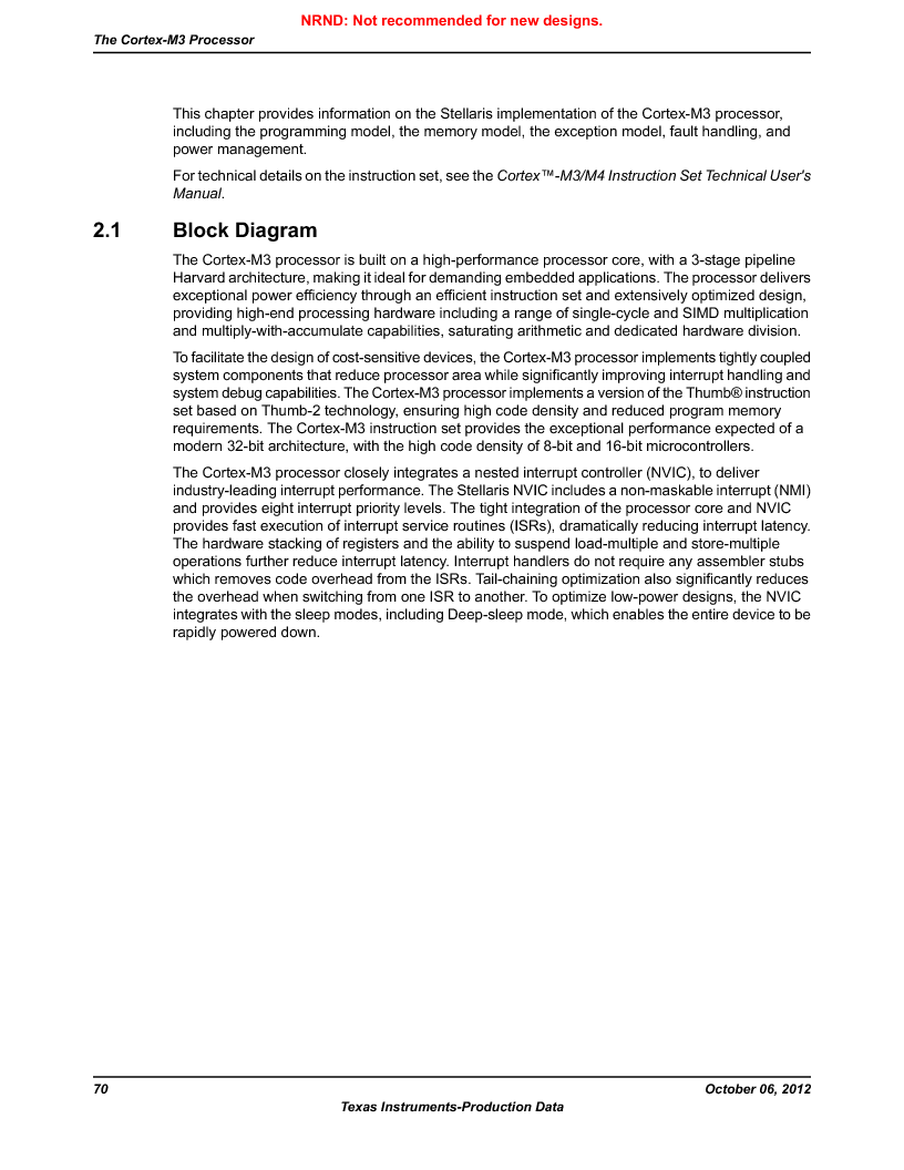 LM3S9G97 ,Texas Instruments厂商,Stellaris LM3S Microcontroller 108-NFBGA -40 to 85, LM3S9G97 datasheet预览  第70页