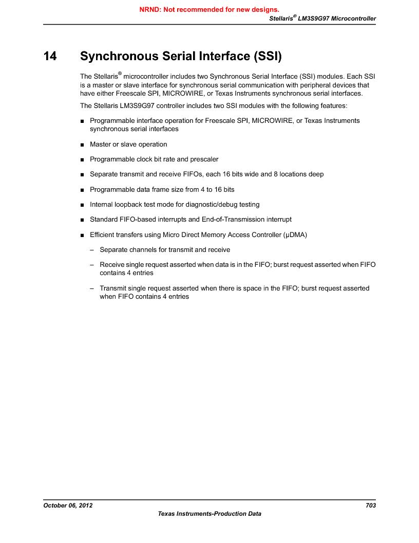 LM3S9G97 ,Texas Instruments厂商,Stellaris LM3S Microcontroller 108-NFBGA -40 to 85, LM3S9G97 datasheet预览  第703页