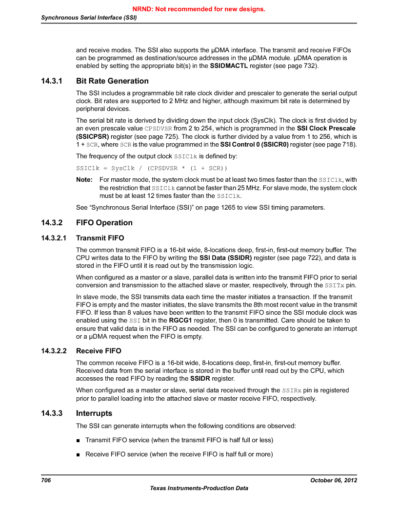 LM3S9G97 ,Texas Instruments厂商,Stellaris LM3S Microcontroller 108-NFBGA -40 to 85, LM3S9G97 datasheet预览  第706页