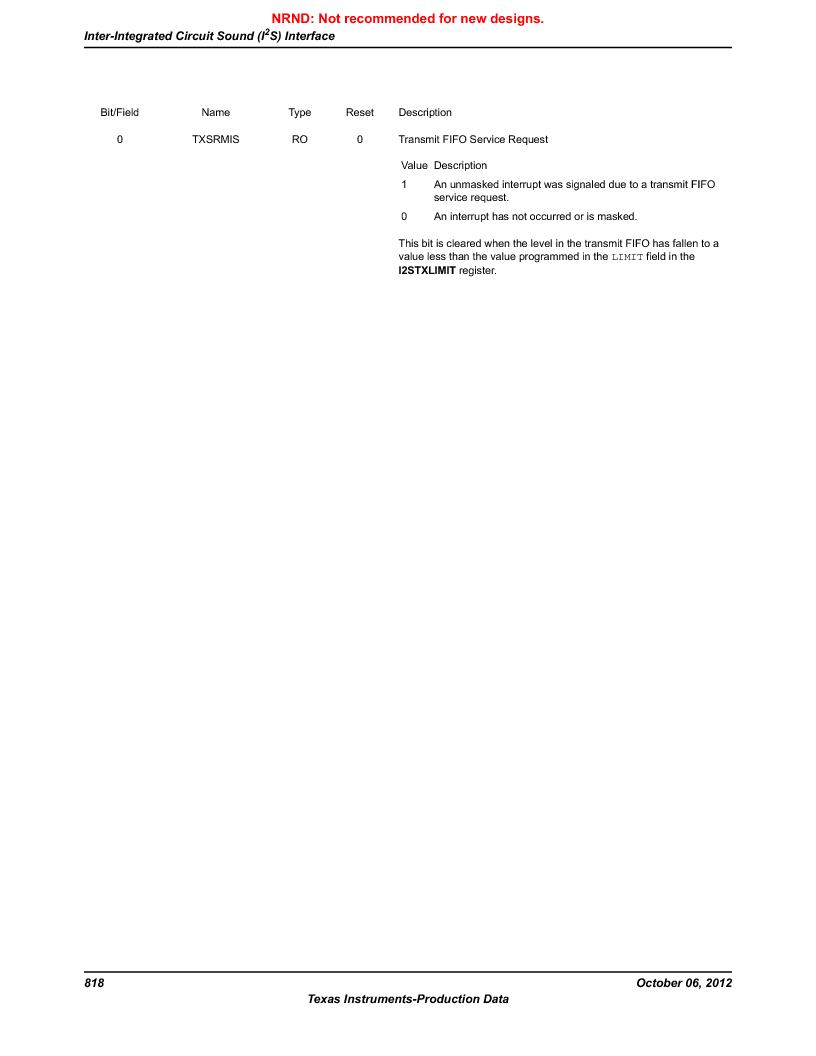 LM3S9G97 ,Texas Instruments厂商,Stellaris LM3S Microcontroller 108-NFBGA -40 to 85, LM3S9G97 datasheet预览  第818页