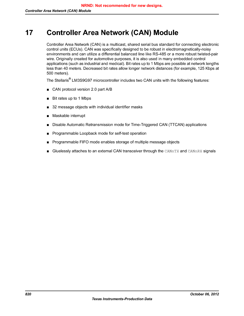 LM3S9G97 ,Texas Instruments厂商,Stellaris LM3S Microcontroller 108-NFBGA -40 to 85, LM3S9G97 datasheet预览  第820页