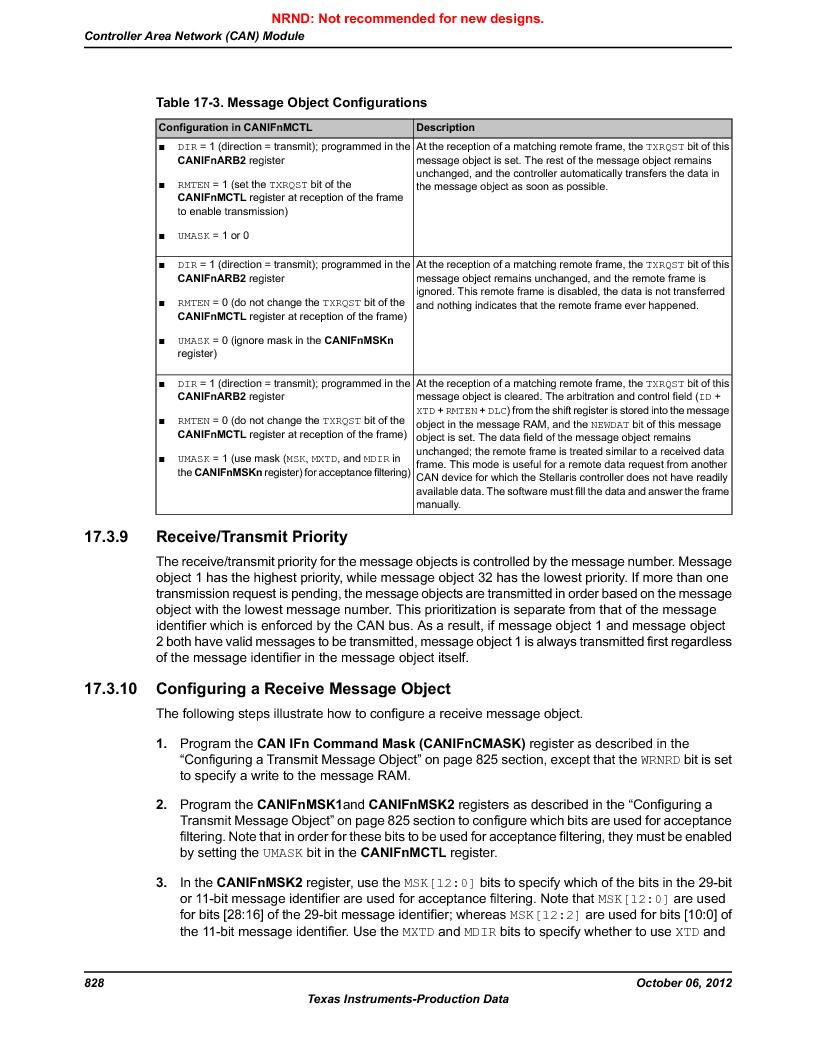 LM3S9G97 ,Texas Instruments厂商,Stellaris LM3S Microcontroller 108-NFBGA -40 to 85, LM3S9G97 datasheet预览  第828页
