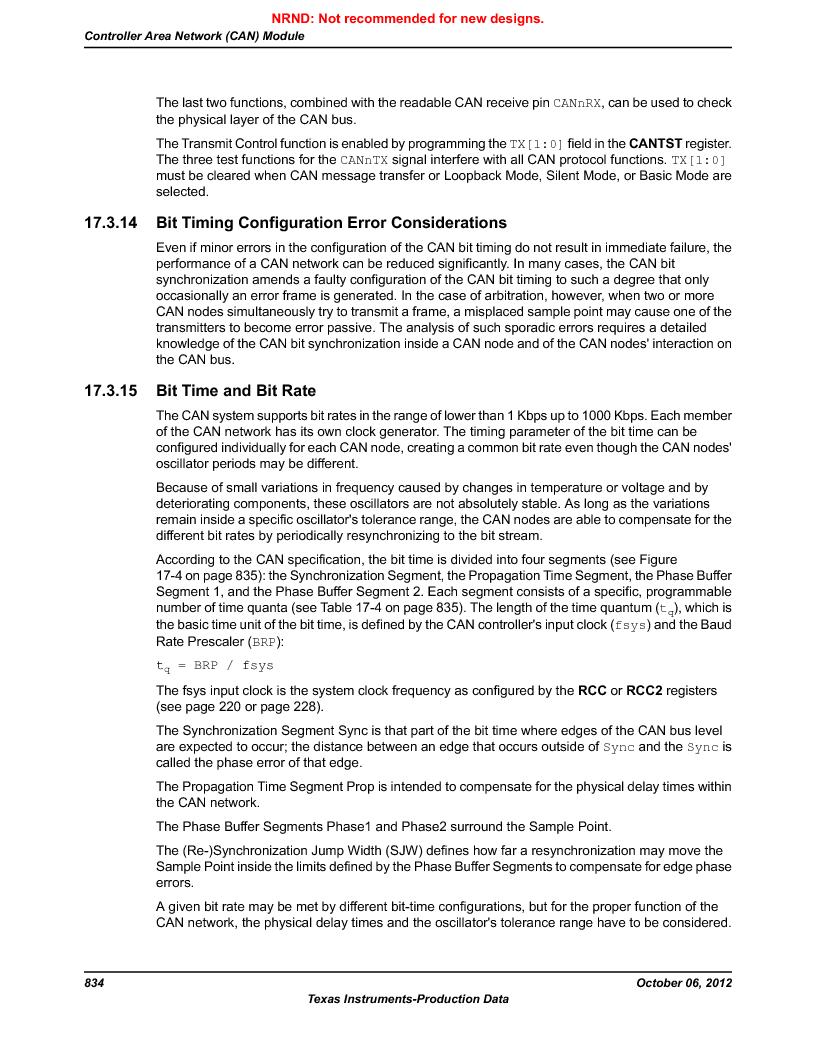 LM3S9G97 ,Texas Instruments厂商,Stellaris LM3S Microcontroller 108-NFBGA -40 to 85, LM3S9G97 datasheet预览  第834页
