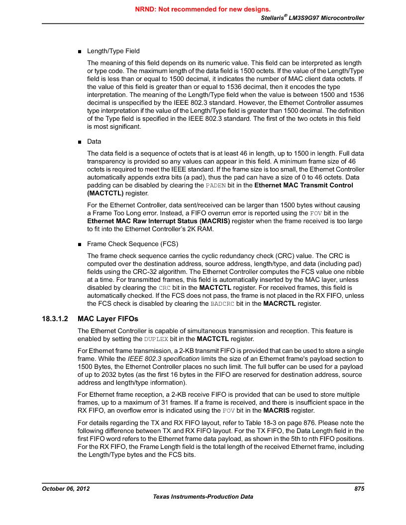 LM3S9G97 ,Texas Instruments厂商,Stellaris LM3S Microcontroller 108-NFBGA -40 to 85, LM3S9G97 datasheet预览  第875页