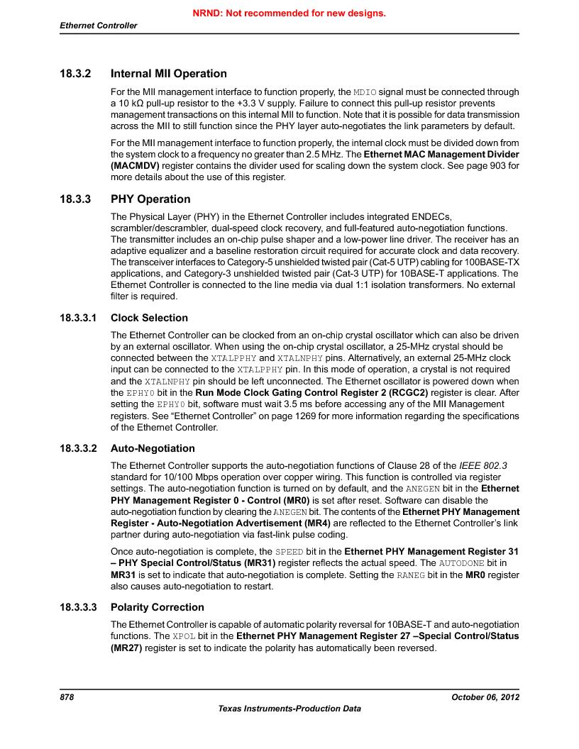 LM3S9G97 ,Texas Instruments厂商,Stellaris LM3S Microcontroller 108-NFBGA -40 to 85, LM3S9G97 datasheet预览  第878页