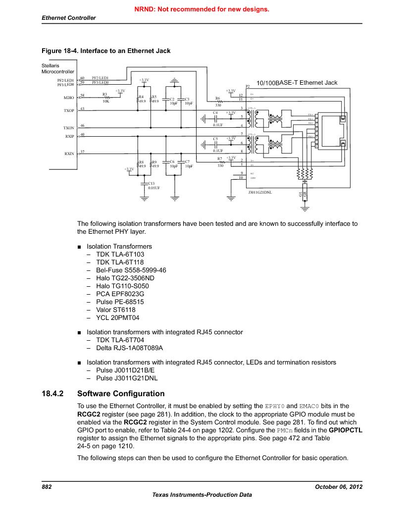 LM3S9G97 ,Texas Instruments厂商,Stellaris LM3S Microcontroller 108-NFBGA -40 to 85, LM3S9G97 datasheet预览  第882页