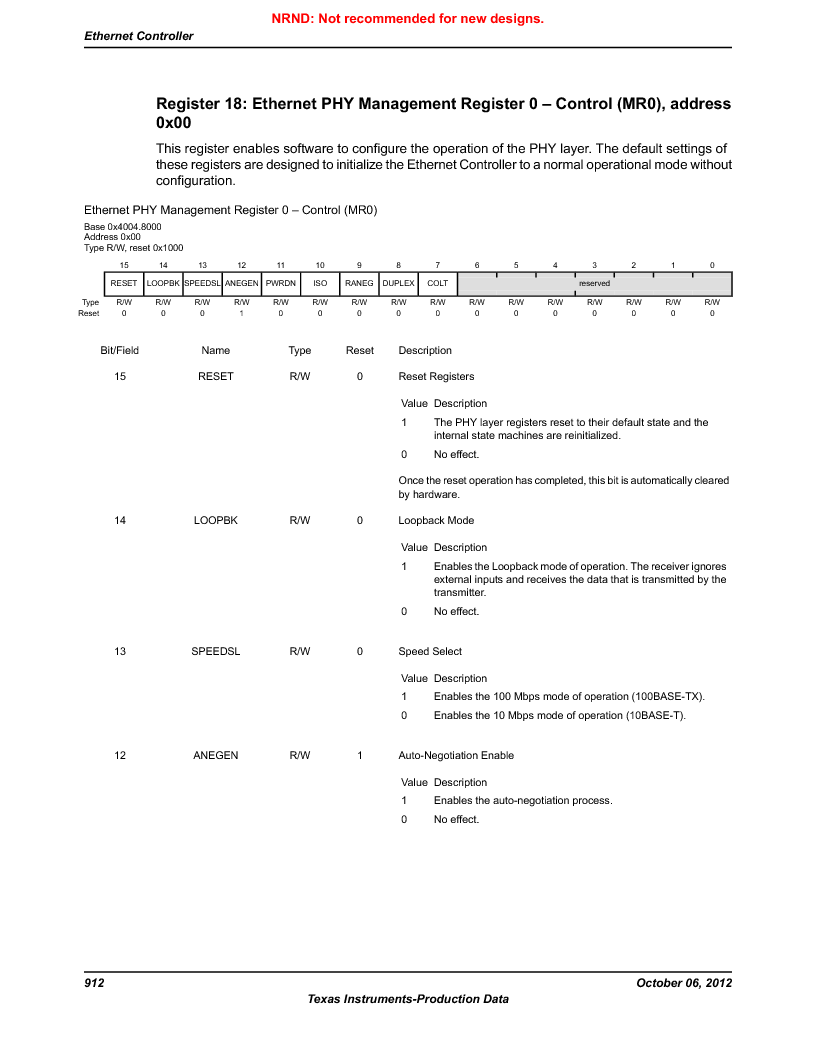 LM3S9G97 ,Texas Instruments厂商,Stellaris LM3S Microcontroller 108-NFBGA -40 to 85, LM3S9G97 datasheet预览  第912页