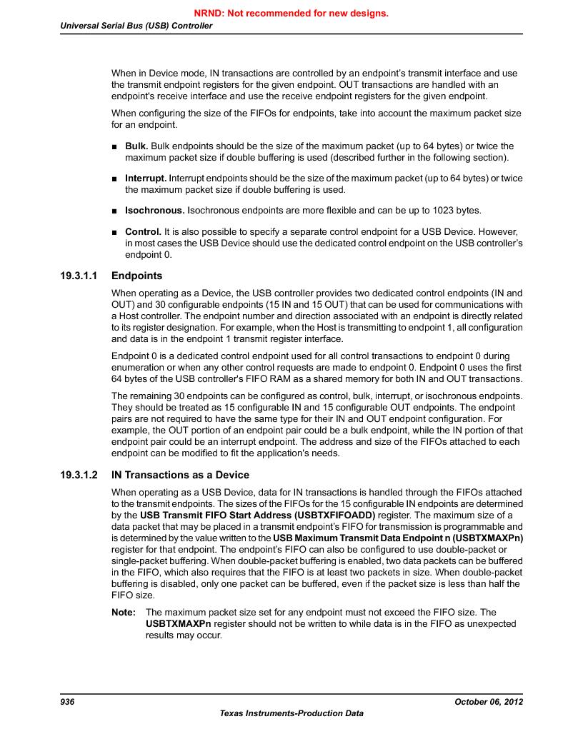 LM3S9G97 ,Texas Instruments厂商,Stellaris LM3S Microcontroller 108-NFBGA -40 to 85, LM3S9G97 datasheet预览  第936页