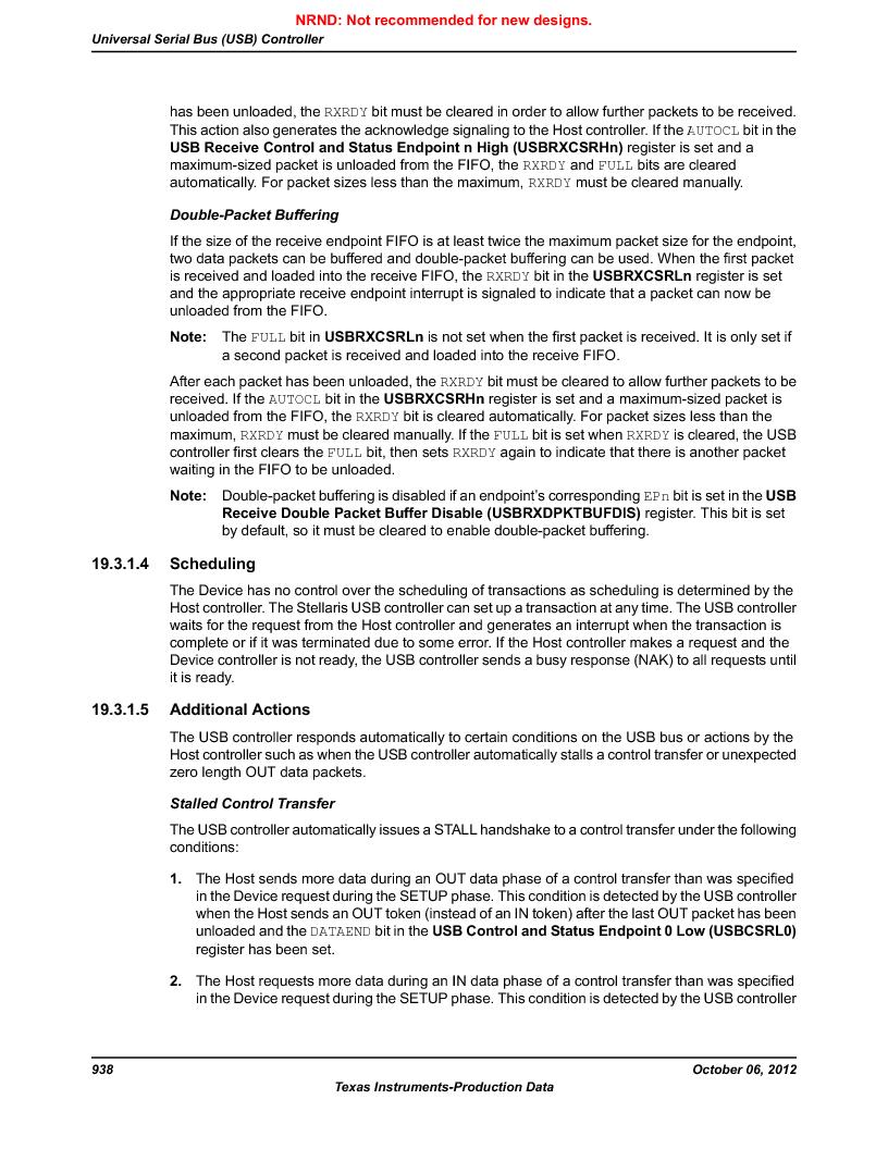 LM3S9G97 ,Texas Instruments厂商,Stellaris LM3S Microcontroller 108-NFBGA -40 to 85, LM3S9G97 datasheet预览  第938页