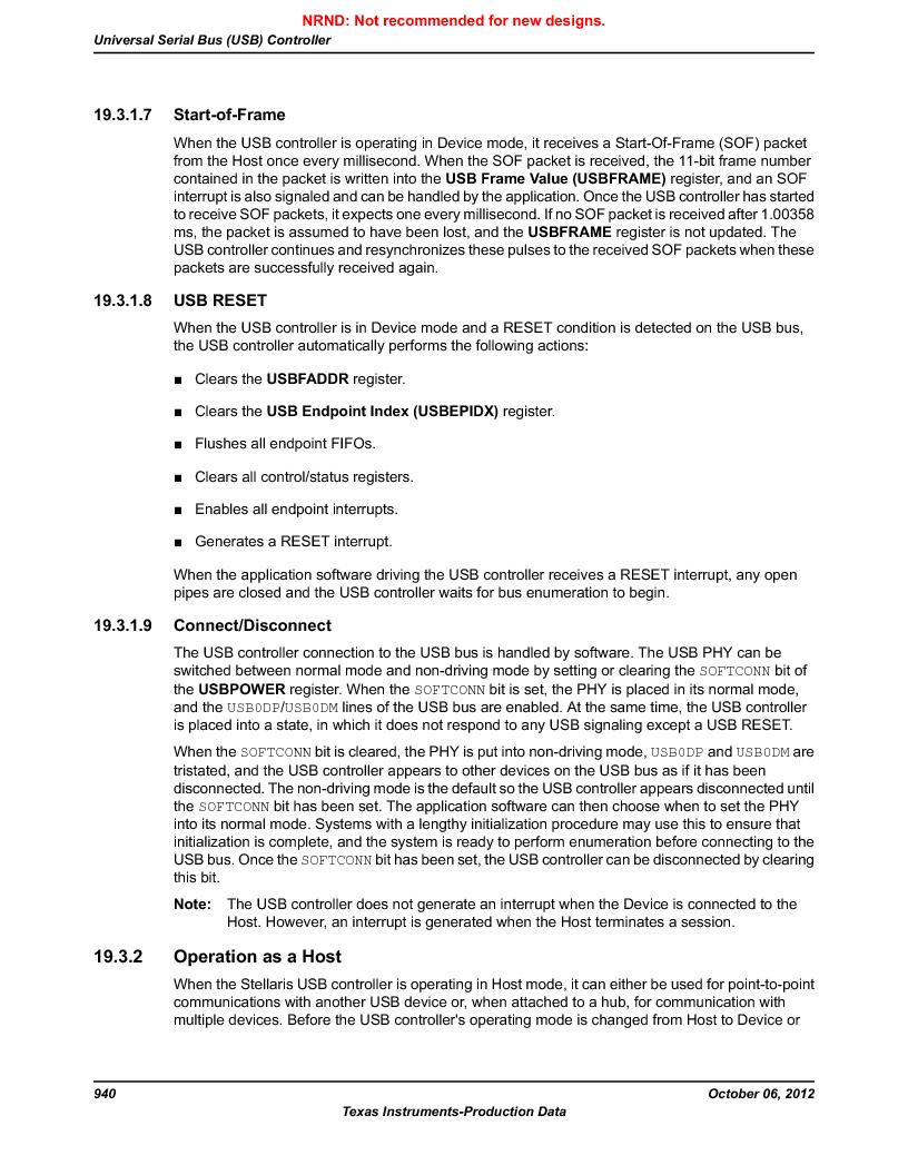 LM3S9G97 ,Texas Instruments厂商,Stellaris LM3S Microcontroller 108-NFBGA -40 to 85, LM3S9G97 datasheet预览  第940页