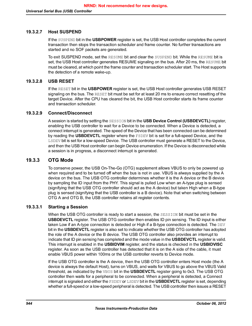 LM3S9G97 ,Texas Instruments厂商,Stellaris LM3S Microcontroller 108-NFBGA -40 to 85, LM3S9G97 datasheet预览  第944页