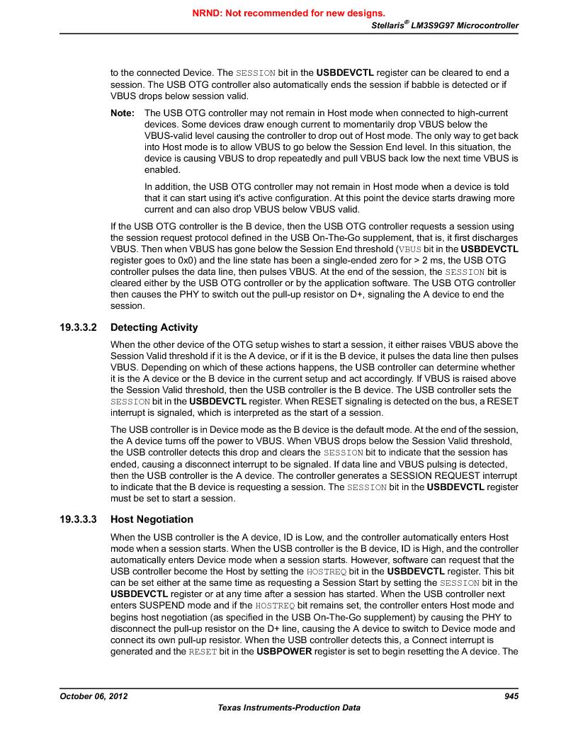 LM3S9G97 ,Texas Instruments厂商,Stellaris LM3S Microcontroller 108-NFBGA -40 to 85, LM3S9G97 datasheet预览  第945页