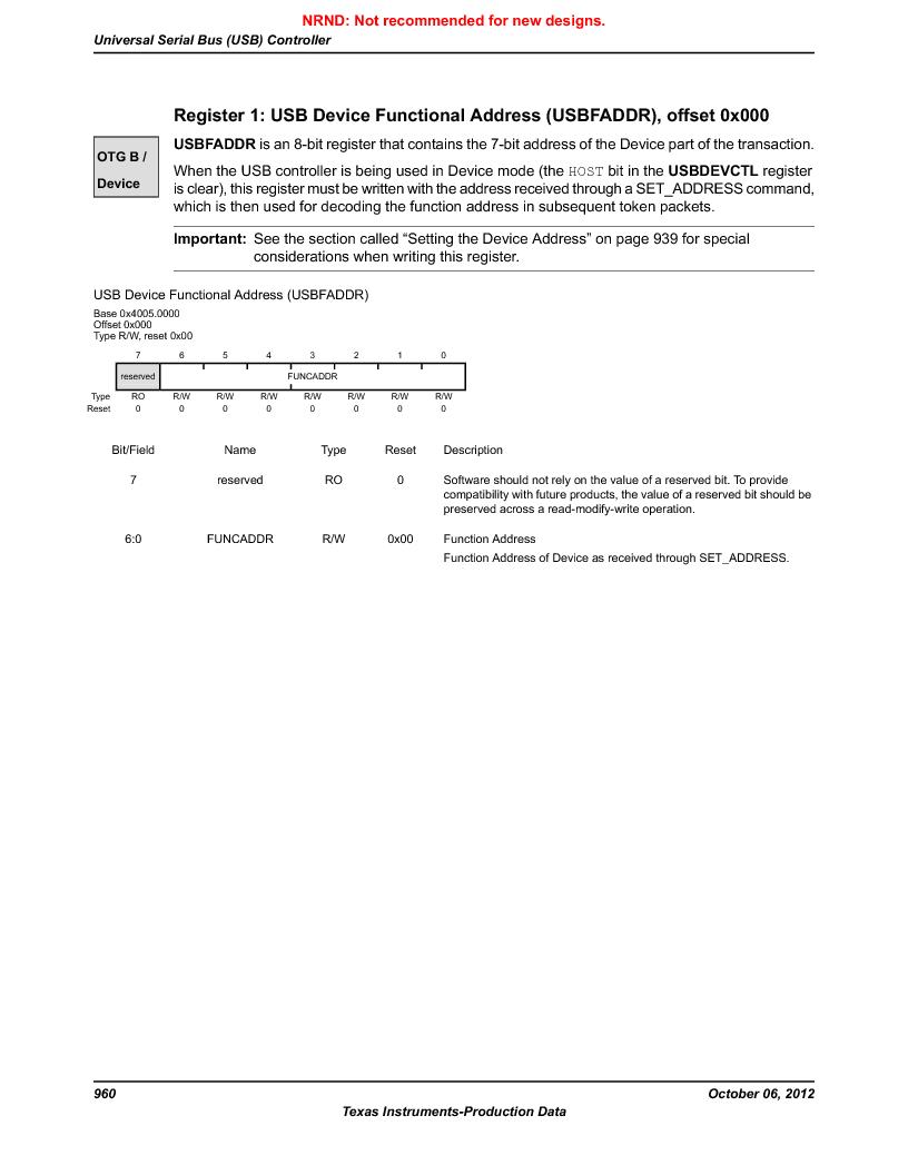LM3S9G97 ,Texas Instruments厂商,Stellaris LM3S Microcontroller 108-NFBGA -40 to 85, LM3S9G97 datasheet预览  第960页