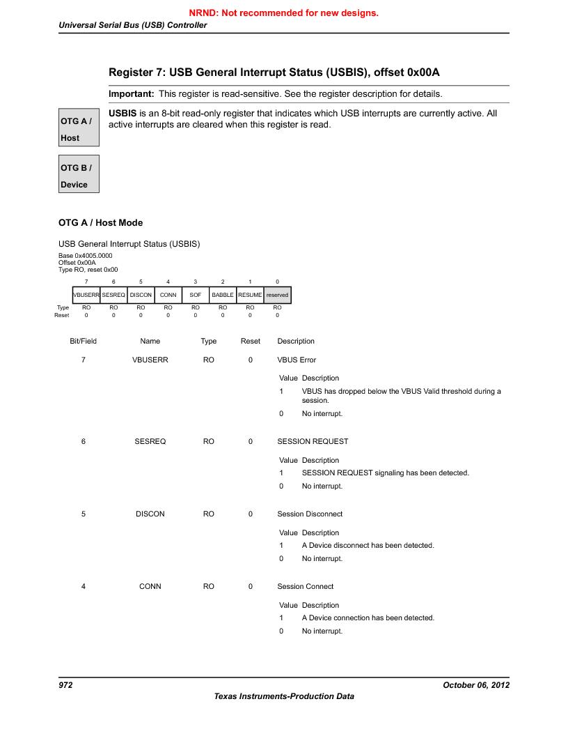 LM3S9G97 ,Texas Instruments厂商,Stellaris LM3S Microcontroller 108-NFBGA -40 to 85, LM3S9G97 datasheet预览  第972页