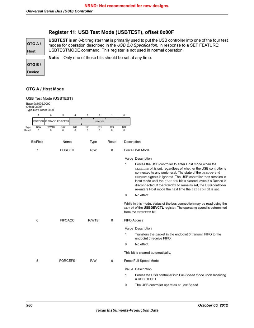 LM3S9G97 ,Texas Instruments厂商,Stellaris LM3S Microcontroller 108-NFBGA -40 to 85, LM3S9G97 datasheet预览  第980页