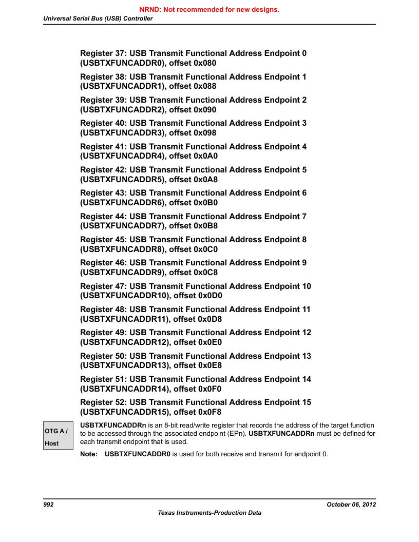 LM3S9G97 ,Texas Instruments厂商,Stellaris LM3S Microcontroller 108-NFBGA -40 to 85, LM3S9G97 datasheet预览  第992页