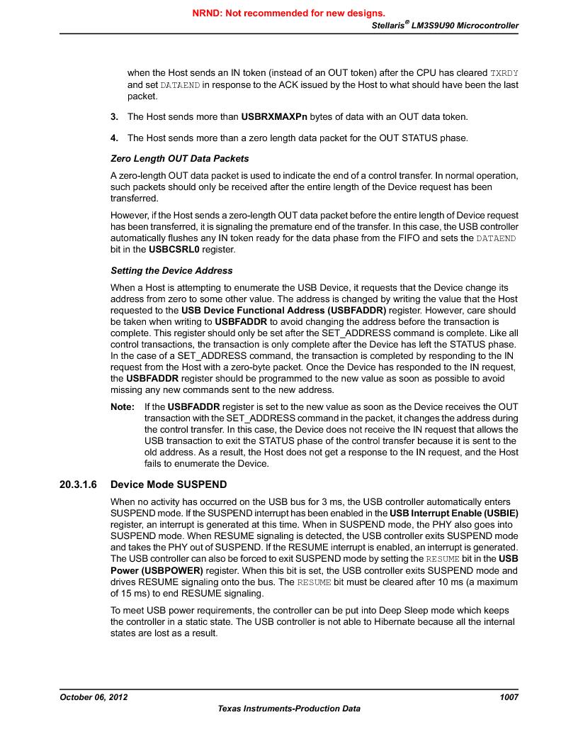 LM3S9U90 ,Texas Instruments厂商,Stellaris LM3S Microcontroller 108-NFBGA -40 to 85, LM3S9U90 datasheet预览  第1007页