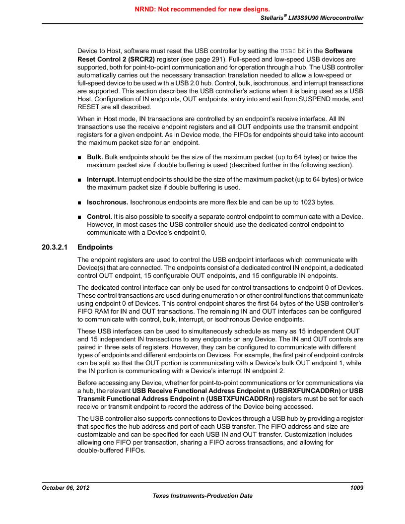 LM3S9U90 ,Texas Instruments厂商,Stellaris LM3S Microcontroller 108-NFBGA -40 to 85, LM3S9U90 datasheet预览  第1009页