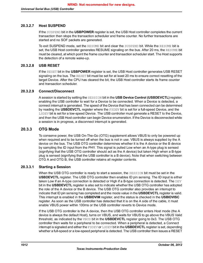 LM3S9U90 ,Texas Instruments厂商,Stellaris LM3S Microcontroller 108-NFBGA -40 to 85, LM3S9U90 datasheet预览  第1012页
