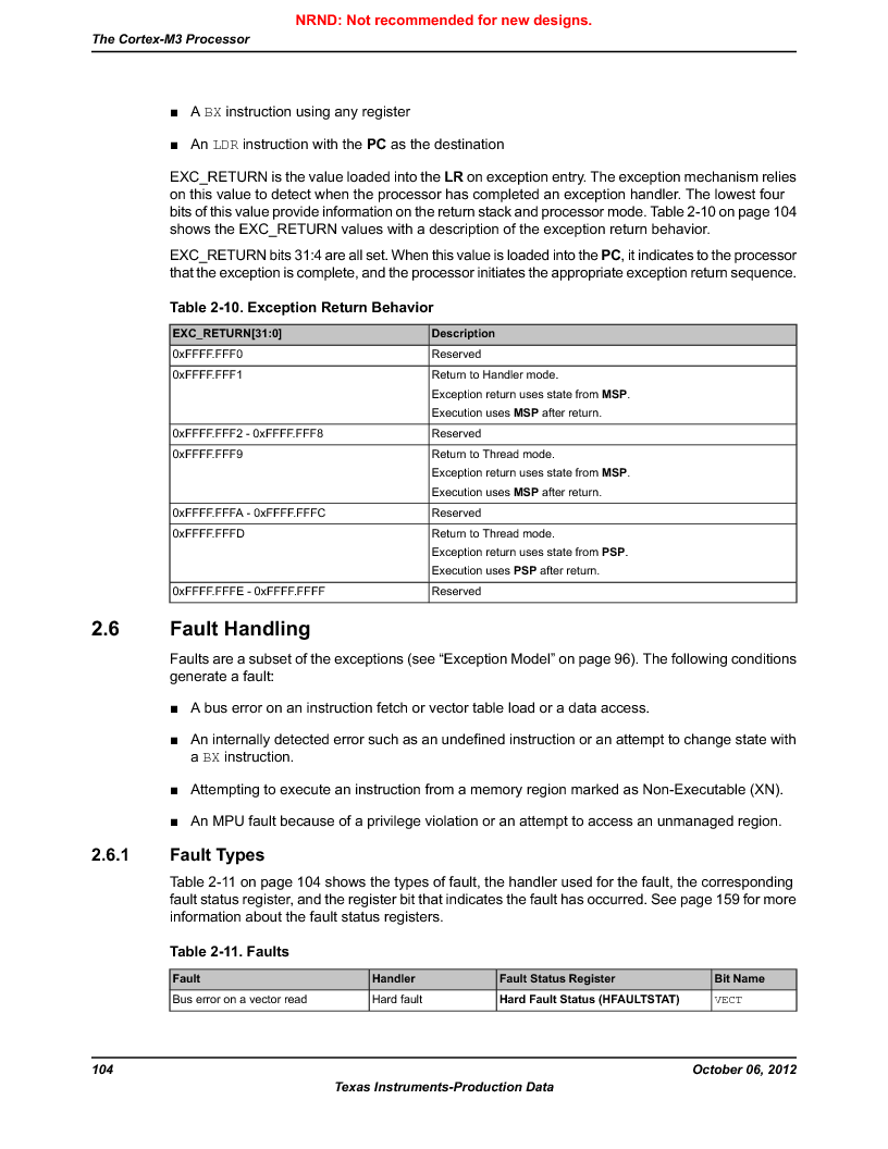 LM3S9U90 ,Texas Instruments厂商,Stellaris LM3S Microcontroller 108-NFBGA -40 to 85, LM3S9U90 datasheet预览  第104页