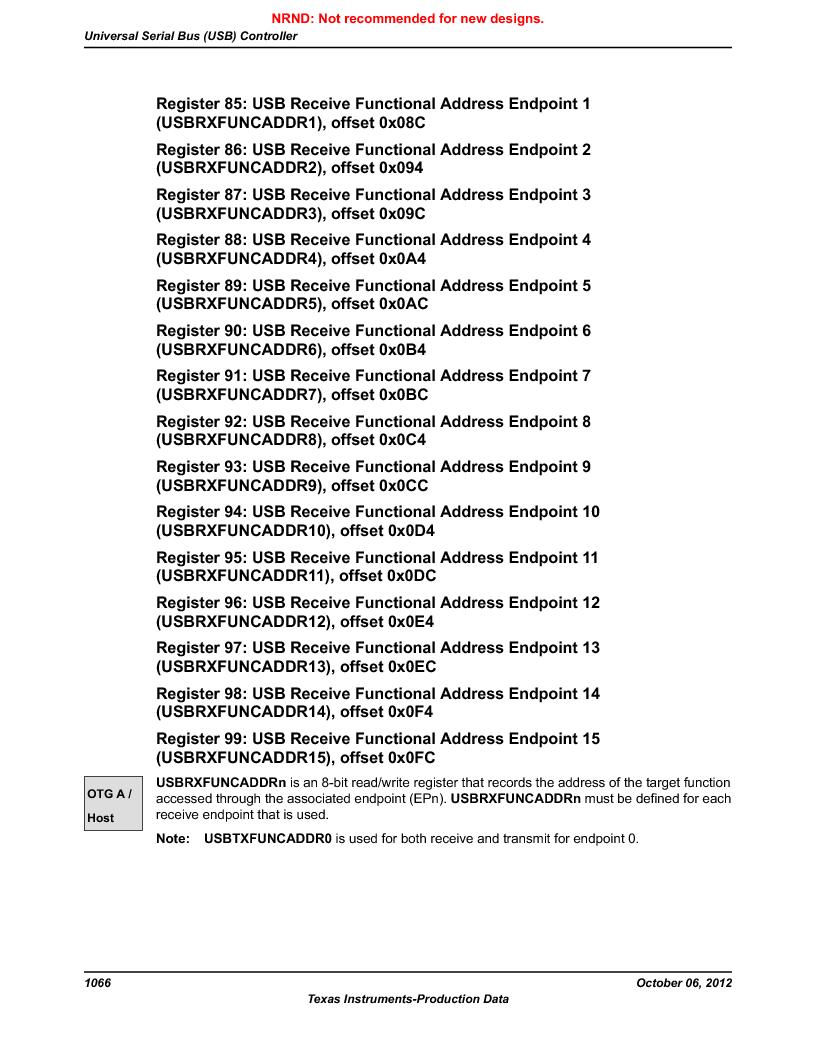 LM3S9U90 ,Texas Instruments厂商,Stellaris LM3S Microcontroller 108-NFBGA -40 to 85, LM3S9U90 datasheet预览  第1066页