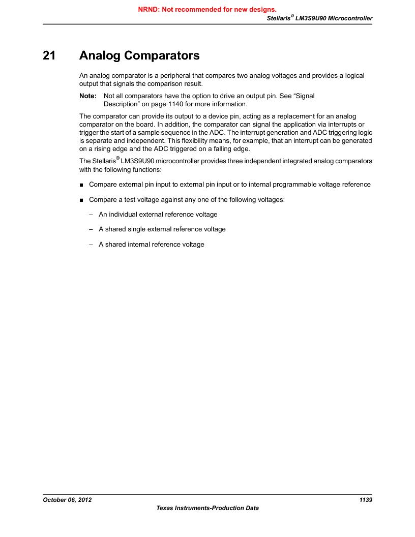 LM3S9U90 ,Texas Instruments厂商,Stellaris LM3S Microcontroller 108-NFBGA -40 to 85, LM3S9U90 datasheet预览  第1139页