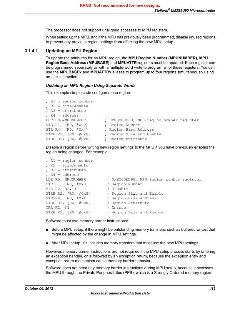LM3S9U90 ,Texas Instruments厂商,Stellaris LM3S Microcontroller 108-NFBGA -40 to 85, LM3S9U90 datasheet预览  第115页