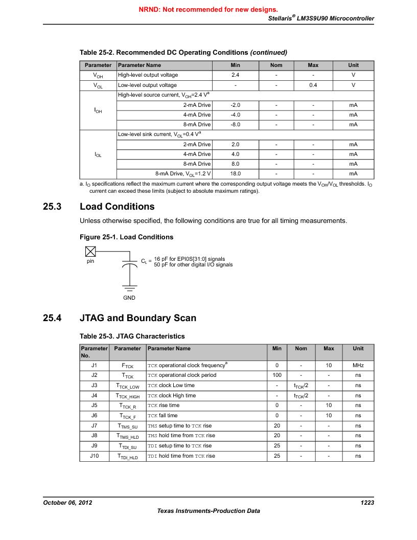 LM3S9U90 ,Texas Instruments厂商,Stellaris LM3S Microcontroller 108-NFBGA -40 to 85, LM3S9U90 datasheet预览  第1223页