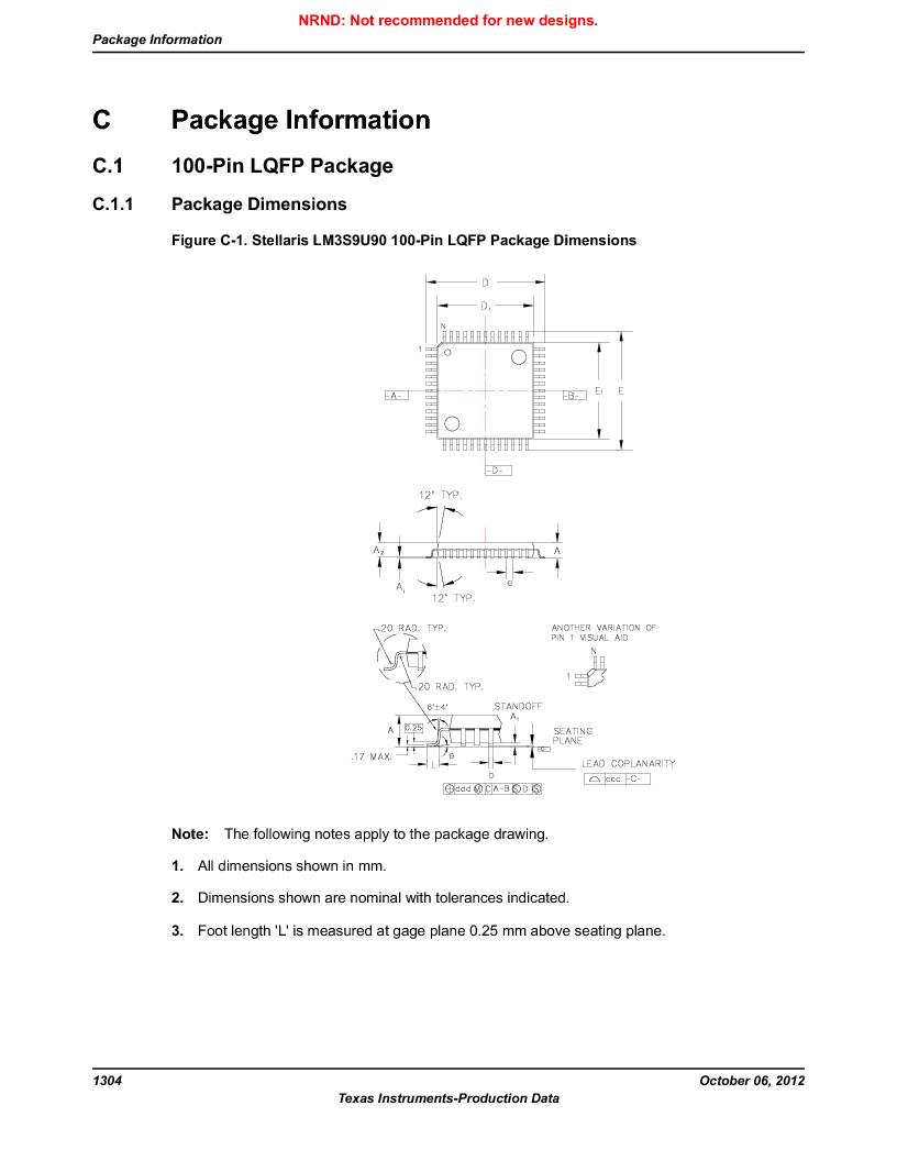 LM3S9U90 ,Texas Instruments厂商,Stellaris LM3S Microcontroller 108-NFBGA -40 to 85, LM3S9U90 datasheet预览  第1304页