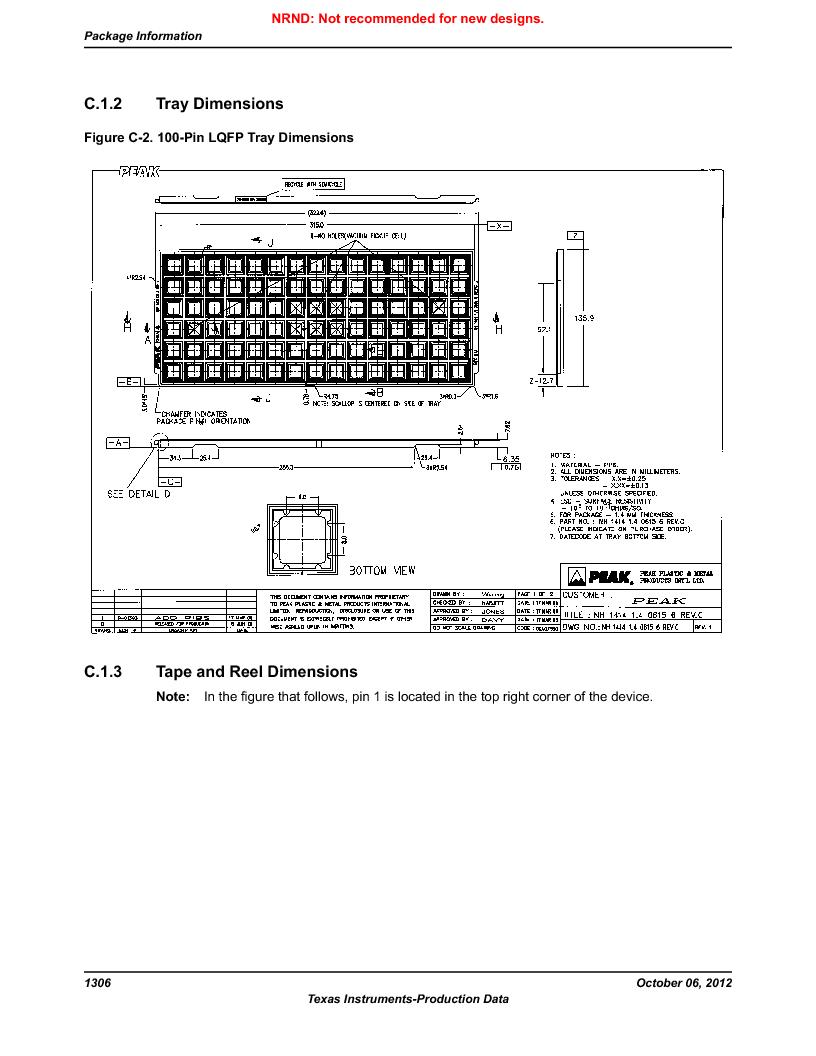 LM3S9U90 ,Texas Instruments厂商,Stellaris LM3S Microcontroller 108-NFBGA -40 to 85, LM3S9U90 datasheet预览  第1306页