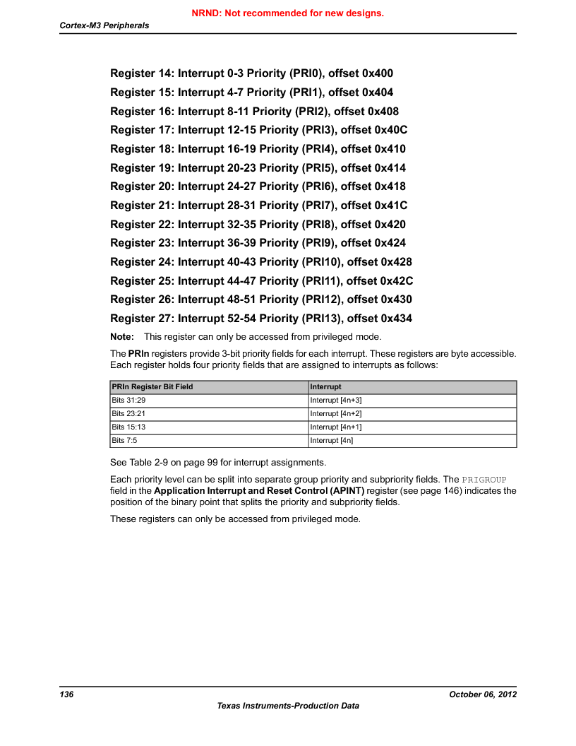 LM3S9U90 ,Texas Instruments厂商,Stellaris LM3S Microcontroller 108-NFBGA -40 to 85, LM3S9U90 datasheet预览  第136页